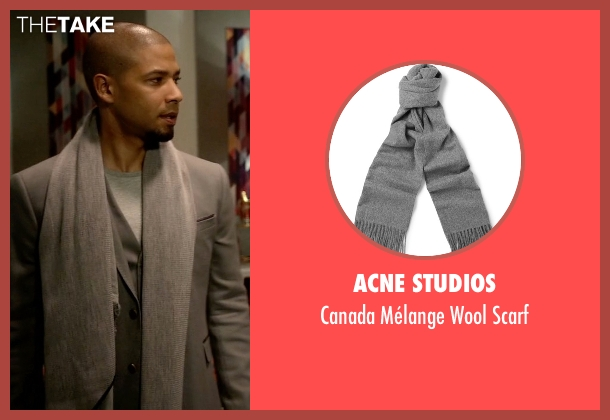 Acne Studios gray scarf from Empire seen with Jamal Lyon (Jussie Smollett)