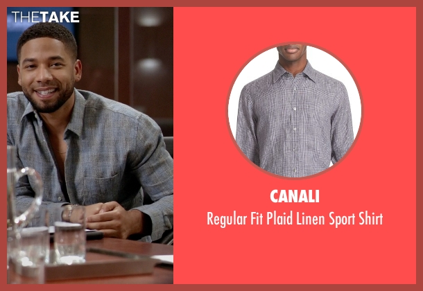 Canali gray shirt from Empire seen with Jamal Lyon (Jussie Smollett)