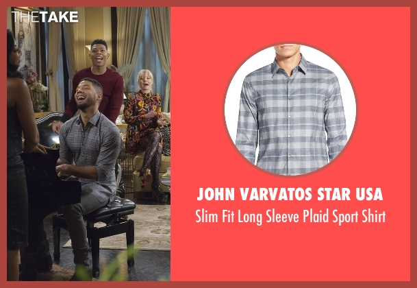 John Varvatos Star USA gray shirt from Empire seen with Jamal Lyon (Jussie Smollett)