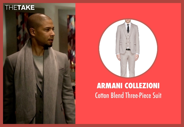 Armani Collezioni gray suit from Empire seen with Jamal Lyon (Jussie Smollett)