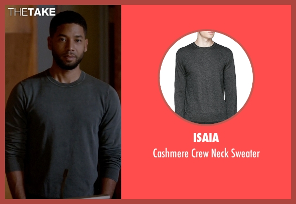 Isaia gray sweater from Empire seen with Jamal Lyon (Jussie Smollett)