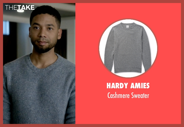 Hardy Amies gray sweater from Empire seen with Jamal Lyon (Jussie Smollett)