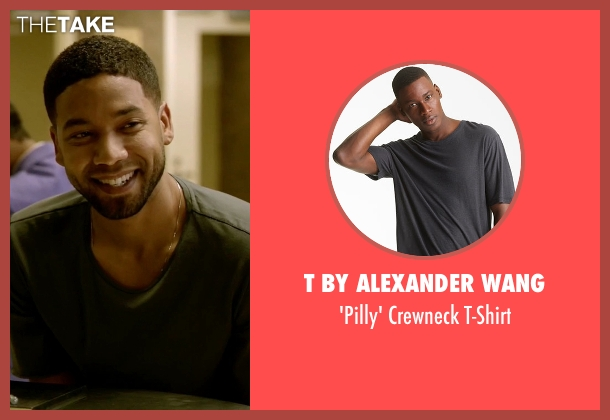 T by Alexander Wang gray t-shirt from Empire seen with Jamal Lyon (Jussie Smollett)