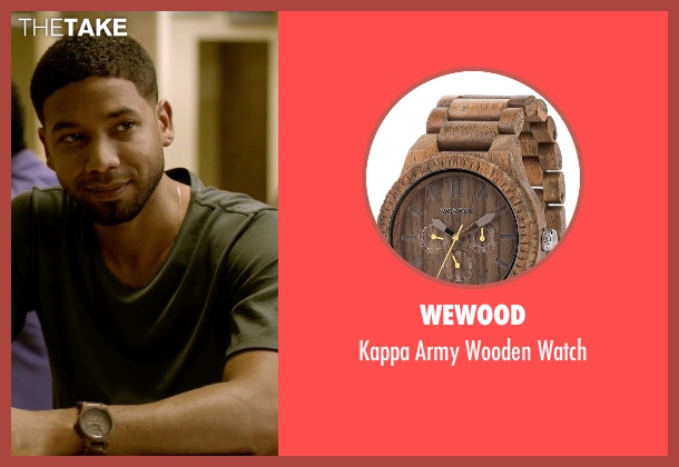 WeWood watch from Empire seen with Jamal Lyon (Jussie Smollett)