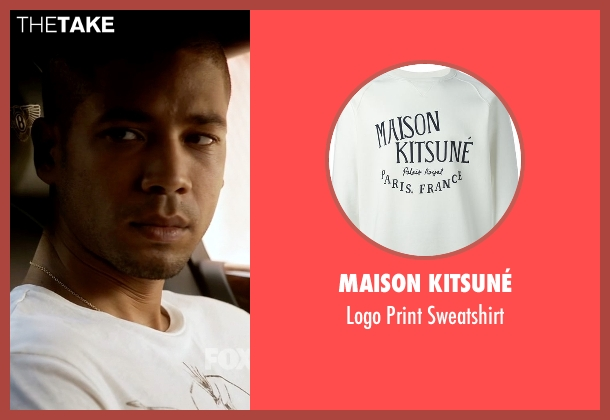 Maison Kitsuné white sweatshirt from Empire seen with Jamal Lyon (Jussie Smollett)