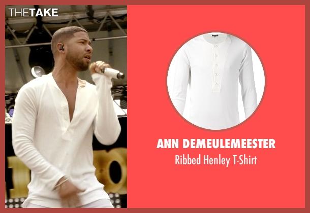 Ann Demeulemeester white t-shirt from Empire seen with Jamal Lyon (Jussie Smollett)