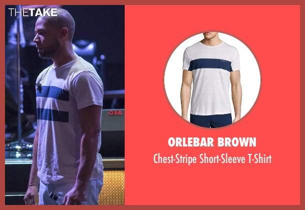 Orlebar Brown white t-shirt from Empire seen with Jamal Lyon (Jussie Smollett)