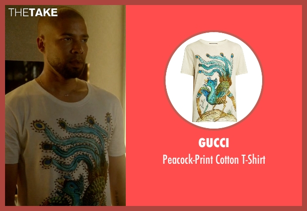 Gucci white t-shirt from Empire seen with Jamal Lyon (Jussie Smollett)