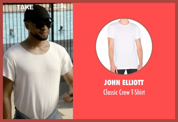 John Elliott white t-shirt from Empire seen with Jamal Lyon (Jussie Smollett)