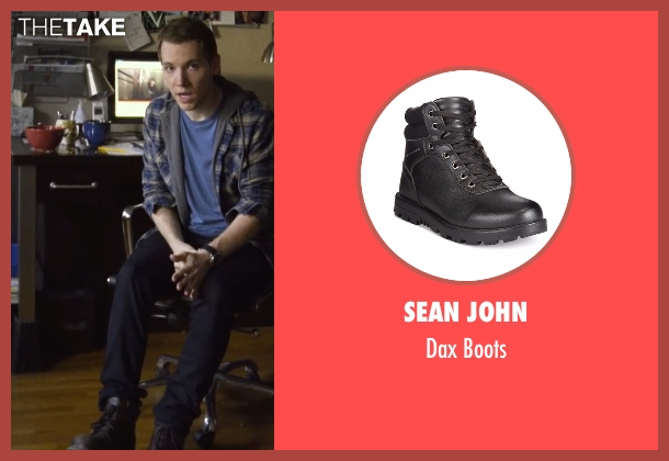 Sean John black boots from Blair Witch seen with James Allen McCune (James)