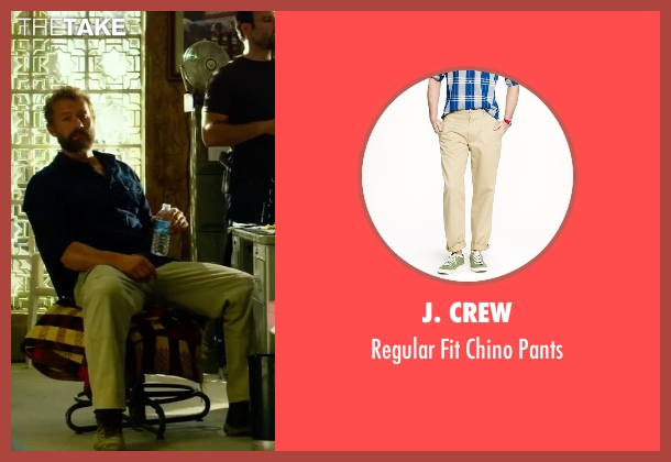 J. Crew beige pants from 13 Hours: The Secret Soldiers of Benghazi seen with James Badge Dale (Rone)