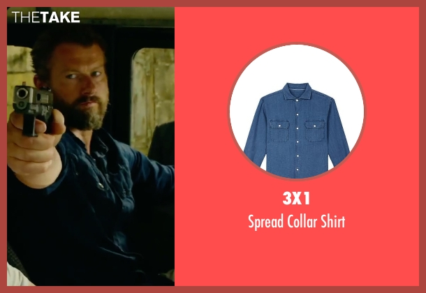 3x1 blue shirt from 13 Hours: The Secret Soldiers of Benghazi seen with James Badge Dale (Rone)