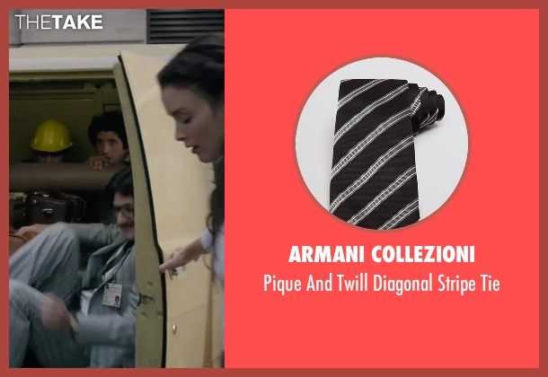 Armani Collezioni black tie from The Walk seen with James Badge Dale (Unknown Character)