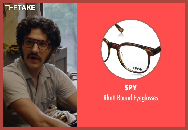 Spy brown eyeglasses from The Walk seen with James Badge Dale (Unknown Character)