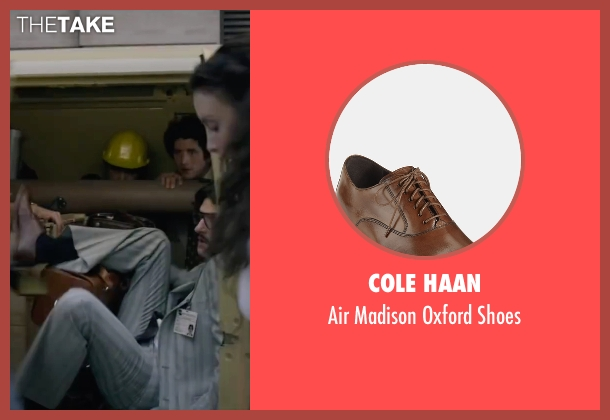 Cole Haan brown shoes from The Walk seen with James Badge Dale (Unknown Character)