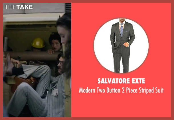 Salvatore Exte gray suit from The Walk seen with James Badge Dale (Albert)