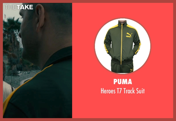 Puma green suit from Drive seen with James Biberi (Cook)