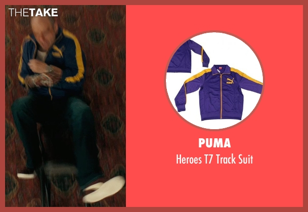 Puma purple suit from Drive seen with James Biberi (Cook)