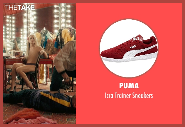 Puma red sneakers from Drive seen with James Biberi (Cook)