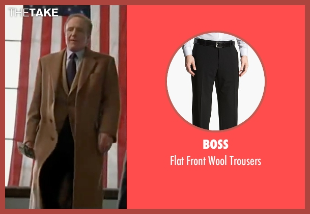 Boss black trousers from Elf seen with James Caan (Walter)