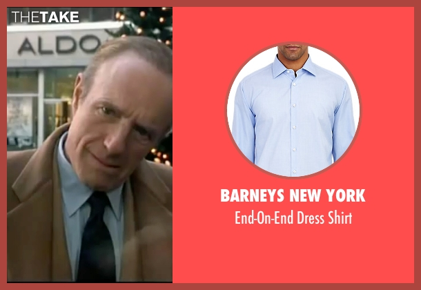 Barneys New York blue shirt from Elf seen with James Caan (Walter)
