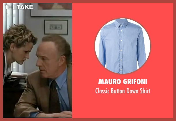 Mauro Grifoni blue shirt from Elf seen with James Caan (Walter)
