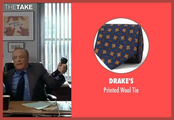 Drake's blue tie from Elf seen with James Caan (Walter)