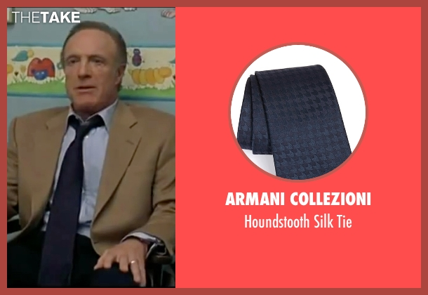 Armani Collezioni blue tie from Elf seen with James Caan (Walter)