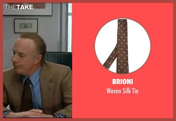 Brioni brown tie from Elf seen with James Caan (Walter)