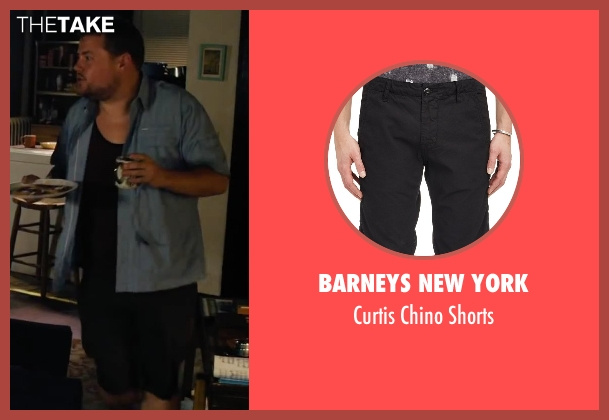 Barneys New York black shorts from Begin Again seen with James Corden (Steve)
