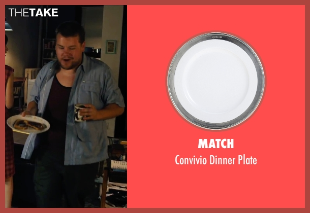 Match plate from Begin Again seen with James Corden (Steve)