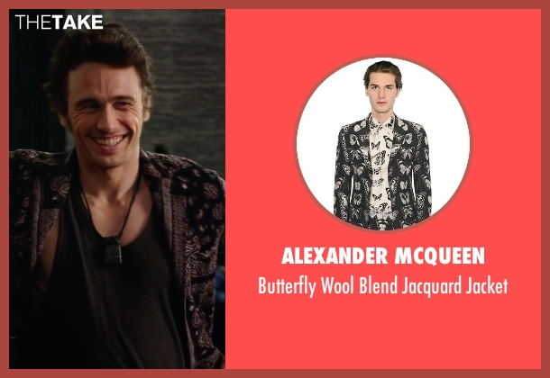 Alexander McQueen black jacket from Why Him? seen with James Franco (Laird)