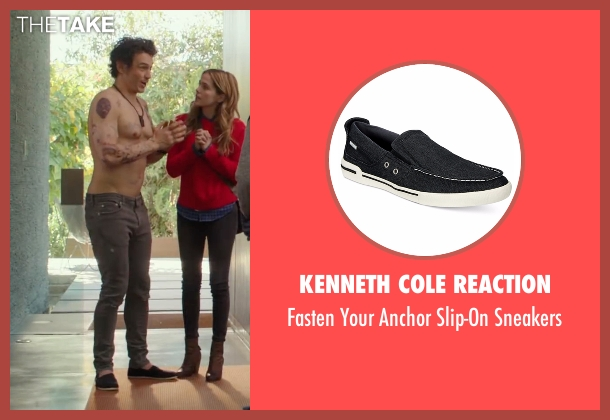 Kenneth Cole Reaction black sneakers from Why Him? seen with James Franco (Laird)