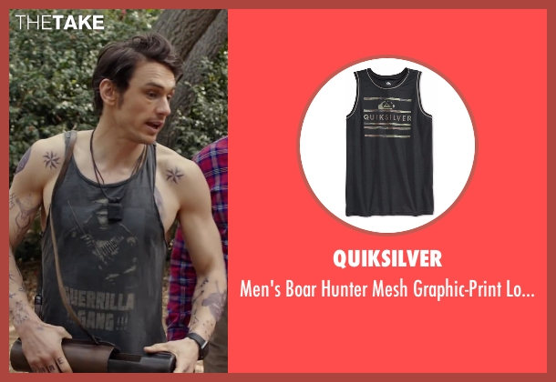 Quiksilver black tank from Why Him? seen with James Franco (Laird)