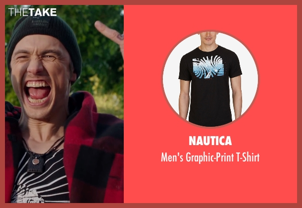 Nautica black t-shirt from Why Him? seen with James Franco (Laird)