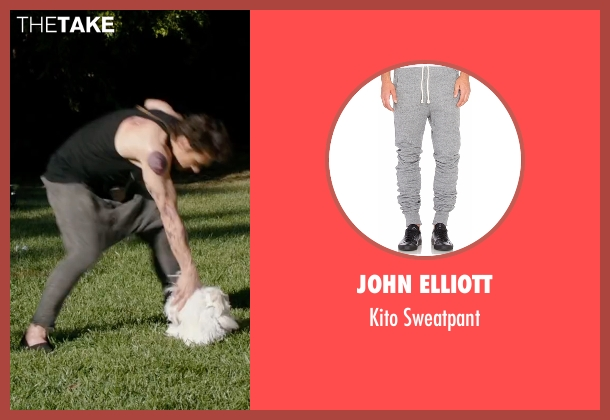 John Elliott  gray sweatpant from Why Him? seen with James Franco (Laird)
