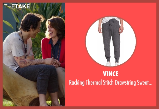 Vince gray sweatpants from Why Him? seen with James Franco (Laird)