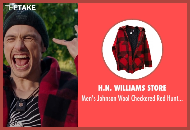 H.N. Williams Store red coat from Why Him? seen with James Franco (Laird)