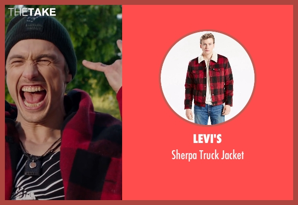 Levi's red jacket from Why Him? seen with James Franco (Laird)