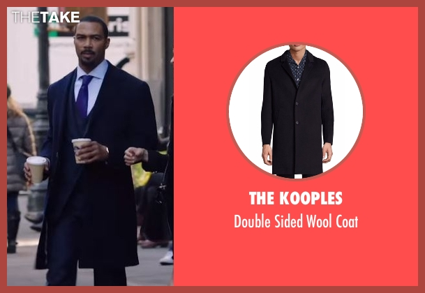 Burberry London blue coat from Power seen with James 'Ghost' St. Patrick (Omari Hardwick)