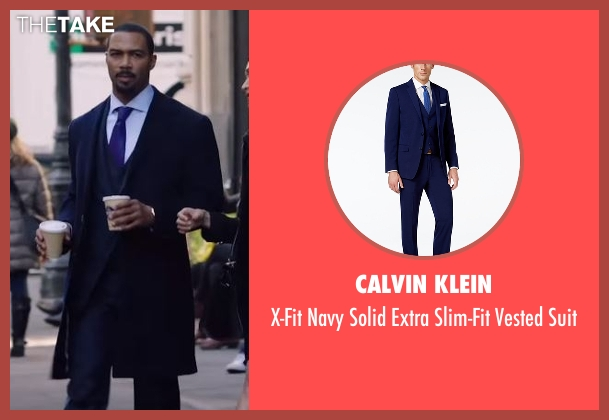 Calvin Klein blue suit from Power seen with James 'Ghost' St. Patrick (Omari Hardwick)