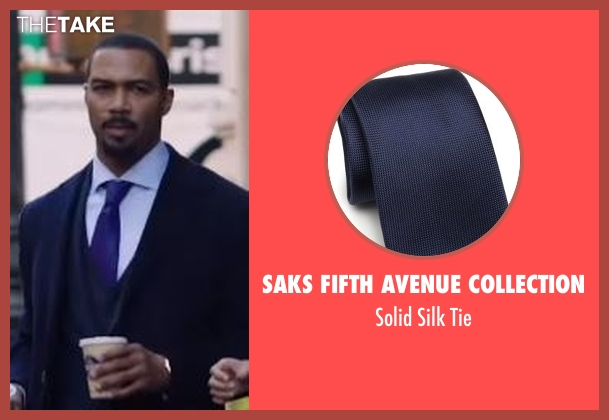Saks Fifth Avenue Collection blue tie from Power seen with James 'Ghost' St. Patrick (Omari Hardwick)
