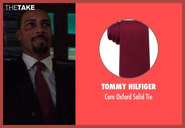 Tommy Hilfiger red tie from Power seen with James 'Ghost' St. Patrick (Omari Hardwick)