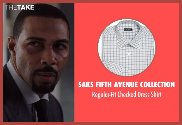 Saks Fifth Avenue Collection white shirt from Power seen with James 'Ghost' St. Patrick (Omari Hardwick)
