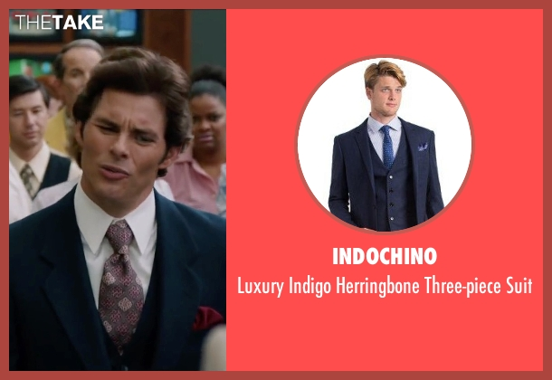 Indochino blue suit from Anchorman 2: The Legend Continues seen with James Marsden (Jack Lime)