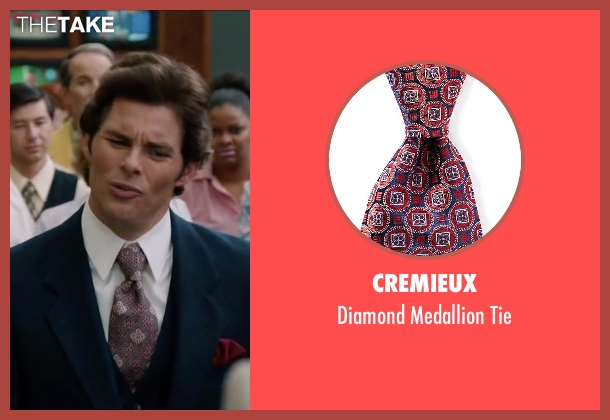 Cremieux red tie from Anchorman 2: The Legend Continues seen with James Marsden (Jack Lime)