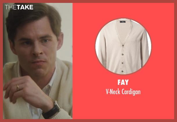 Fay beige cardigan from Lee Daniels' The Butler seen with James Marsden (John F. Kennedy)