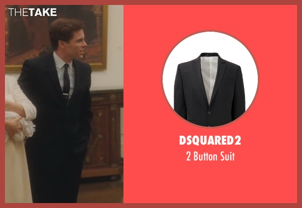 Dsquared2 black suit from Lee Daniels' The Butler seen with James Marsden (John F. Kennedy)