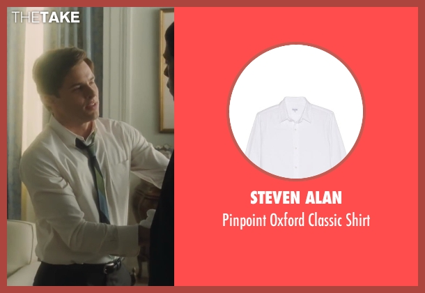 Steven Alan white shirt from Lee Daniels' The Butler seen with James Marsden (John F. Kennedy)