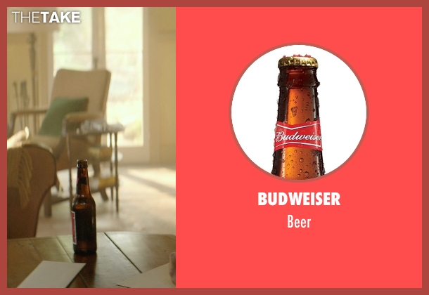 Budweiser beer from The Best of Me seen with James Marsden (Dawson Cole)